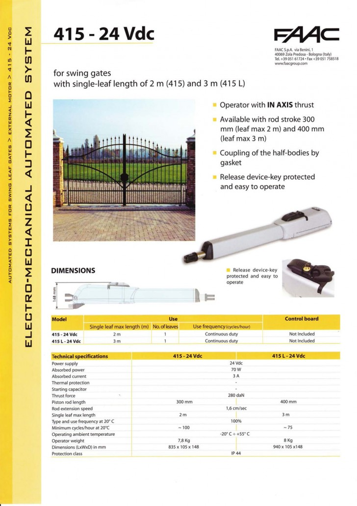 Auto Gate Swing Gates Auto Gate Powered By Protech
